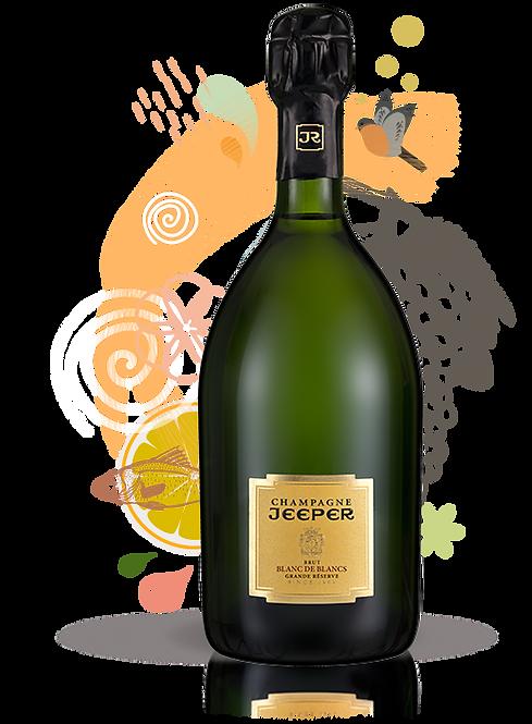 Champagne JEEPER Grande Réserve Blanc de Blancs (Carton 6 Btles)
