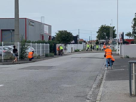Les entreprises de l'AEP et leurs salariés s'attaquent aux déchets sauvages !