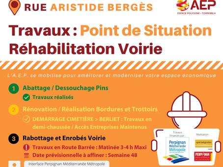 Lancement des travaux de réhabilitation de la Rue Bergès