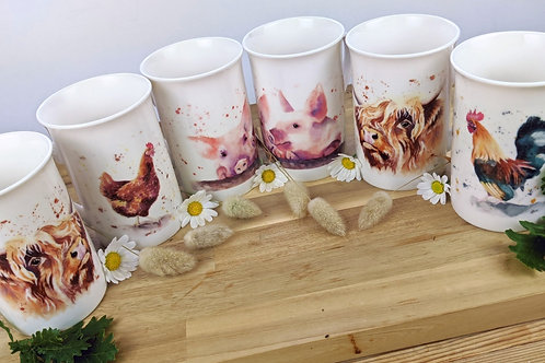 Bone China Mugs, any two for £15 #202050