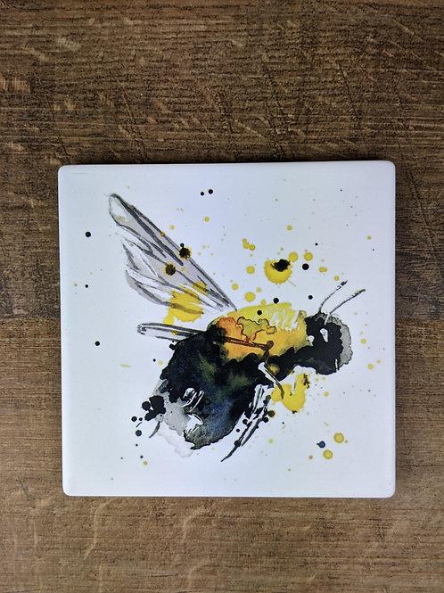 Ceramic Coaster (single) Bee Right