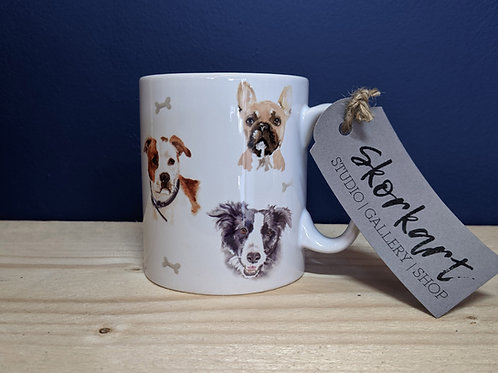 Dog Art Print Ceramic Mug 10oz £6.95 OR Two for £12