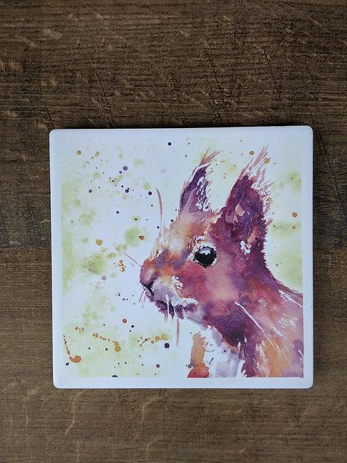 Ceramic Coaster (single) Red Squirrel