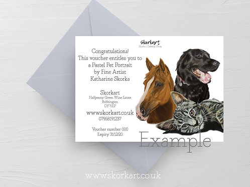 Pastel Pet portrait Gift Voucher