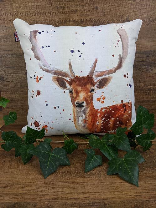 Luxury Art Print Cushion, Fallow Deer, 35 x35 cm