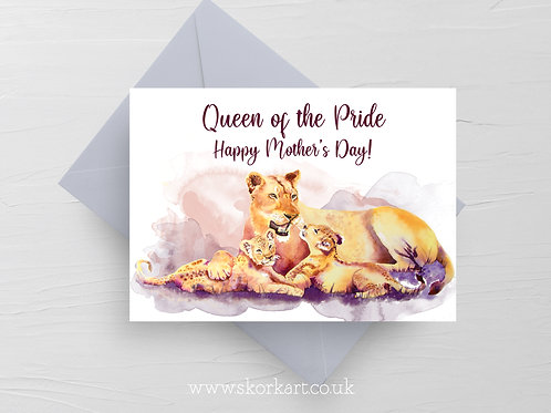 Queen of the Pride, Lioness, Mothers Day Card #202044