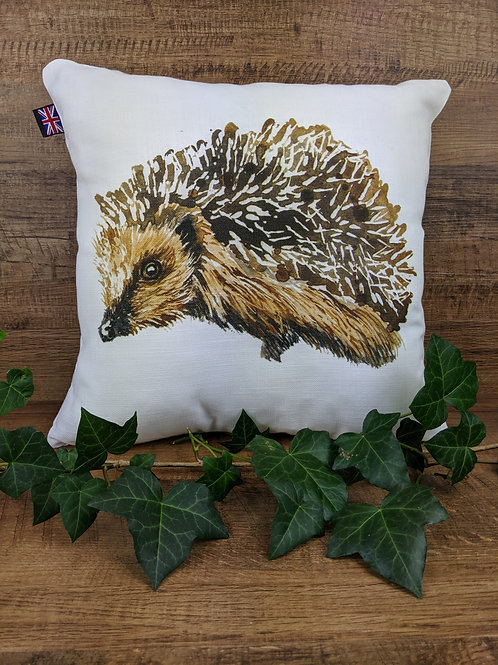 Luxury Art Print Cushion, Hedgehog, 35 x35 cm