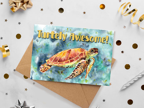Turtely Awesome! Birthday, Congratulations, Love greetings card