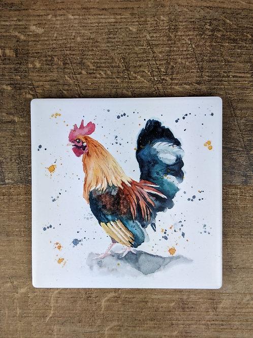 Ceramic Coaster (single) Cockerel