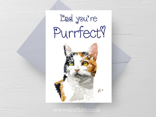 Dad you're Purrfect, Fathers Day Card #202015