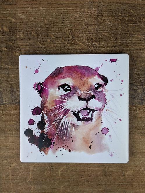 Ceramic Coaster (single) Otter