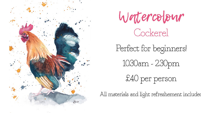 Learn to paint a cockerel in watercolour