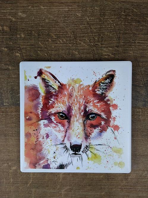 Ceramic Coaster (single) Fox