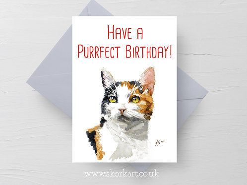 Purrfect Birthday Card #202016