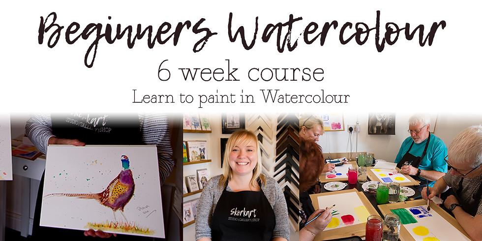 Beginners Watercolour 6 week course