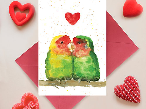 Love Birds, Love, Special, Anniversary Greetings Card