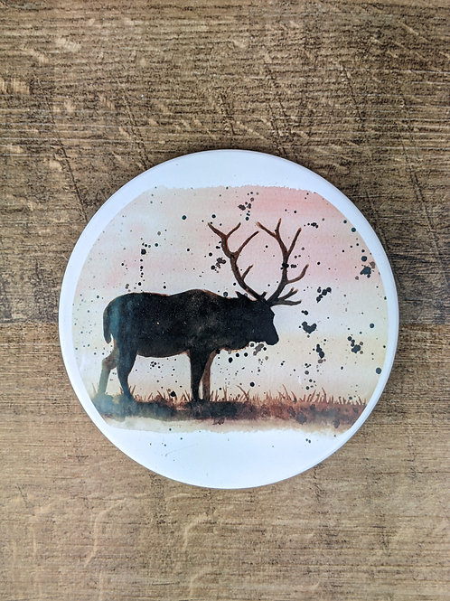 Ceramic Coaster (single) Stag