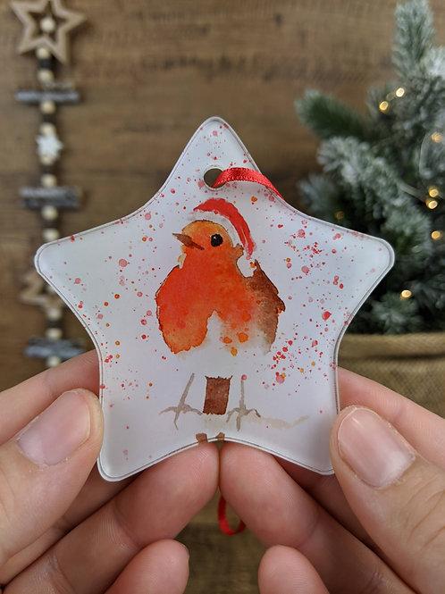 Christmas Tree Decoration - Watercolour Animals