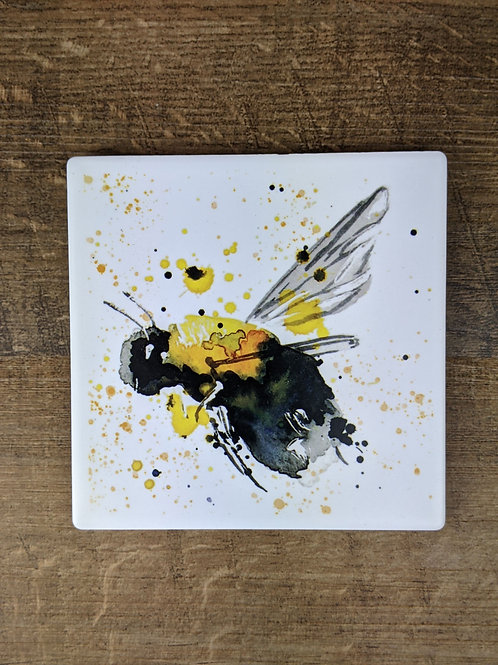 Ceramic Coaster (single) Bee Left