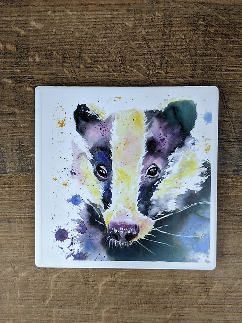 Ceramic Coaster (single) Badger