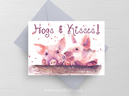 Hogs and Kisses Card #202048