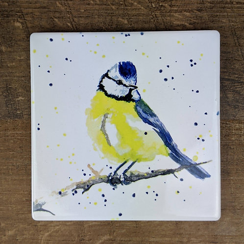 Ceramic Coaster (single) Blue Tit