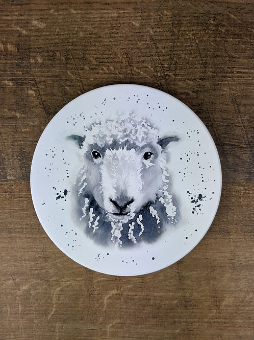 Ceramic Coaster (single) Sheep