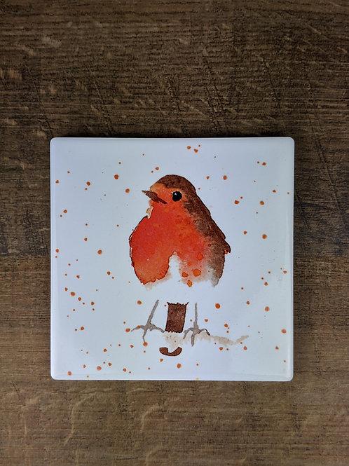 Ceramic Coaster (single) Robin