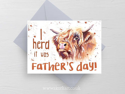 I Herd it was Fathers Day, Card #202047