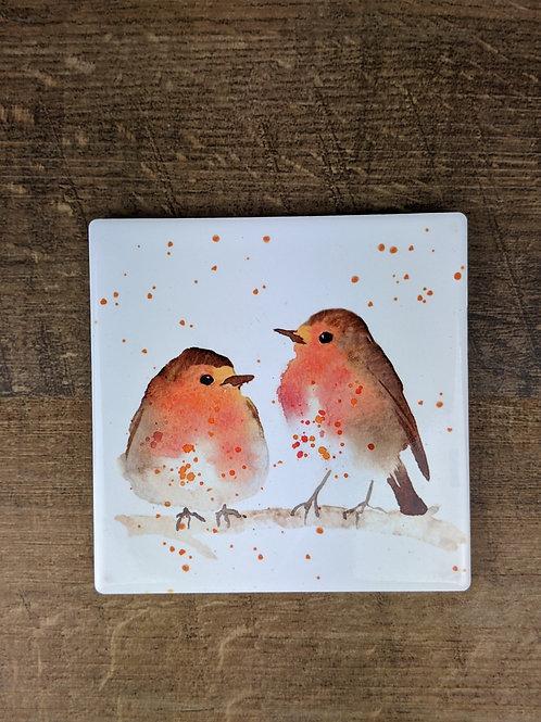Ceramic Coaster (single) Robins