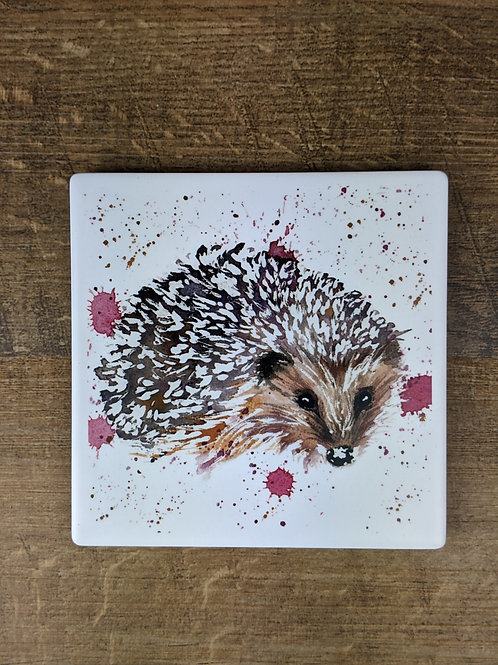Ceramic Coaster (single) Hedgehog