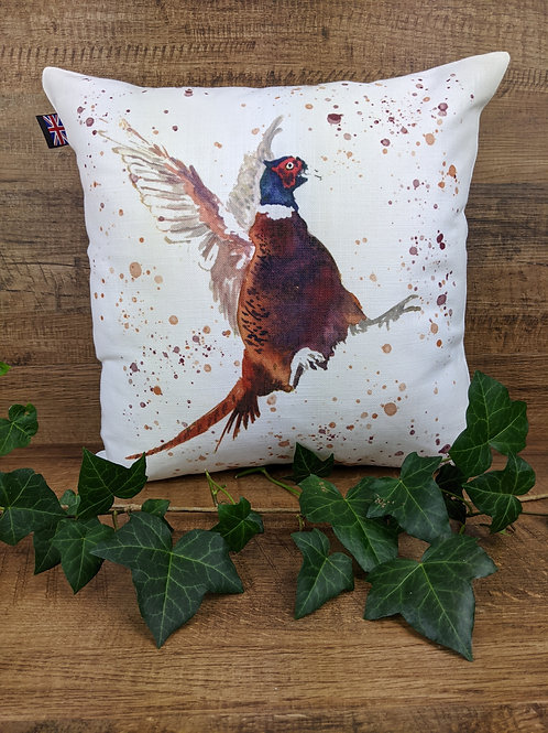 Luxury Art Print Cushion, Pheasant, 35 x35 cm