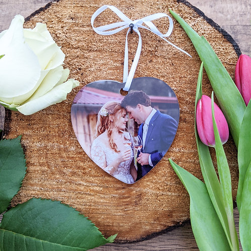 Personalised Photo Heart, Hanging decoration, Valentines, Mothers day, Birthday