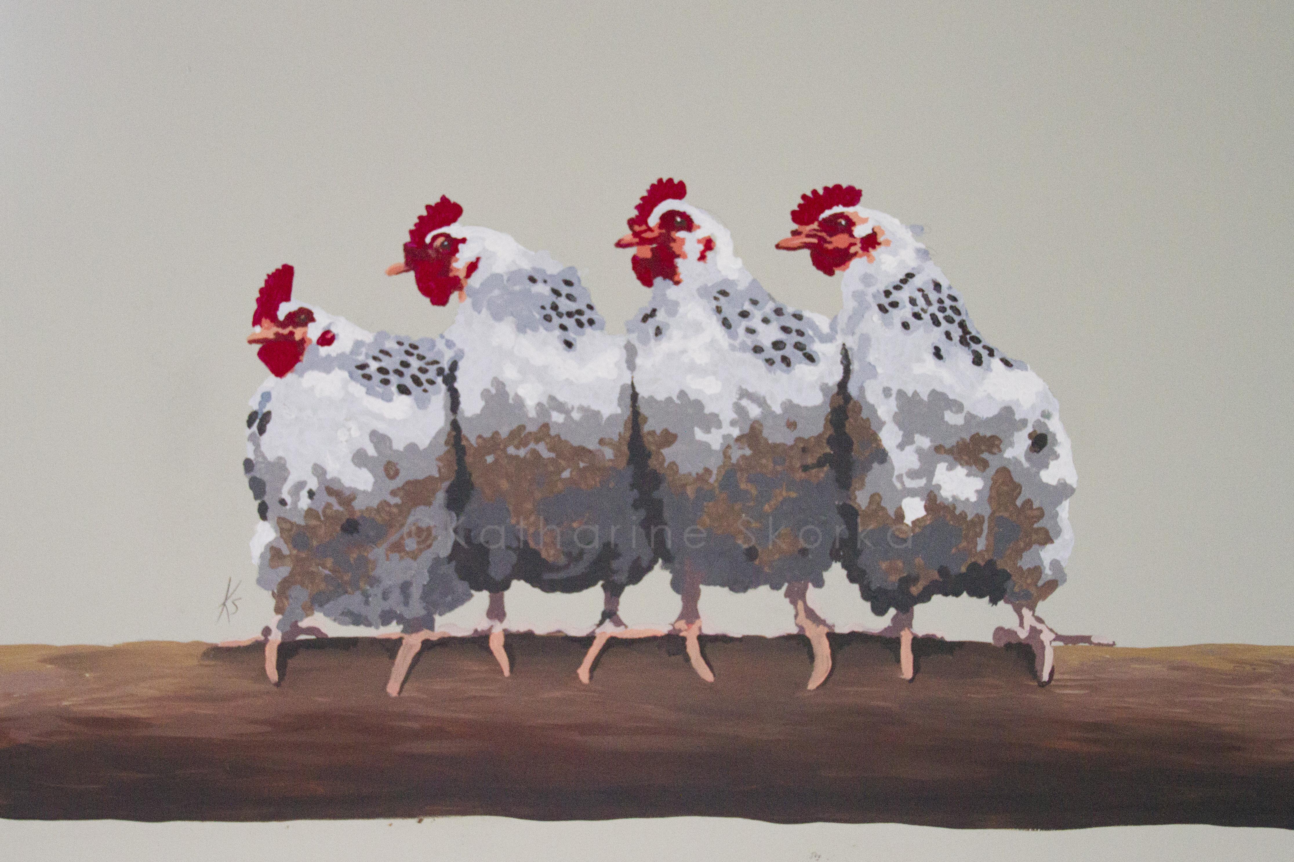 Chickens at Harleys Smokehouse