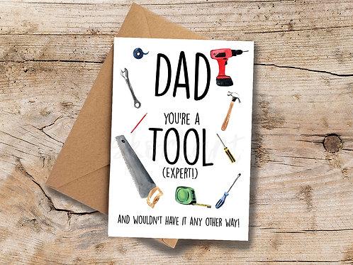 Tool Expert A6 greetings Card