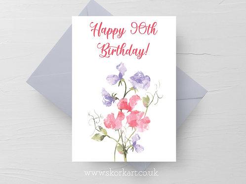 Happy Birthday Sweet Pea (Customise Age) #202026