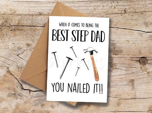 Step DadYou Nailed it! A6 greetings Card