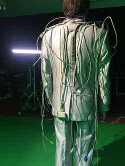 """Backstage video clip """"Call Center"""", Niki Demiller wearing the """"Interconnected Jacket"""""""