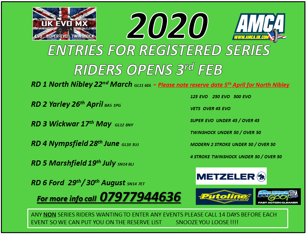 2020 series is now full for registered riders,