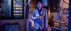 """Still from the video clip """"Call Center"""", Niki Demiller wearing the """"Interconnected Jacket"""""""