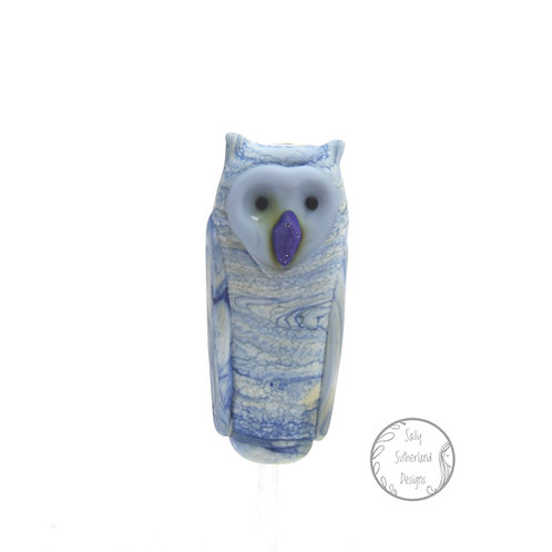 Etched Totemic Owl Bead