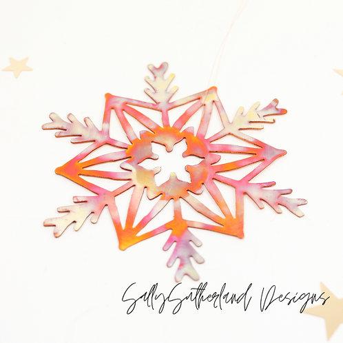 Copper Snowflake Ornament