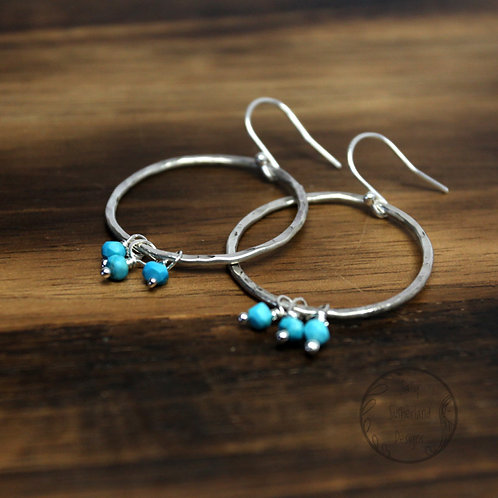 Turquoise Summer Hoop Earrings