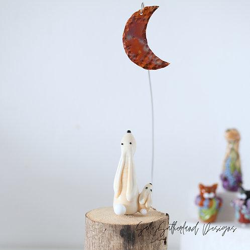 Moongazing Hare Ornament