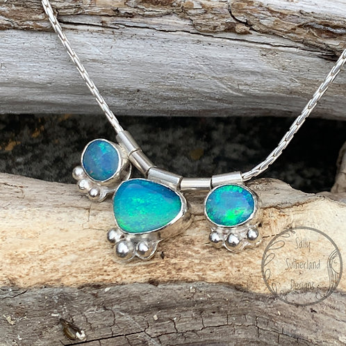 Triple Opal Doublet Necklace
