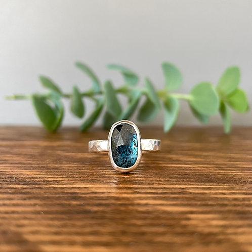 Teal Green Kyanite Ring Q (8)