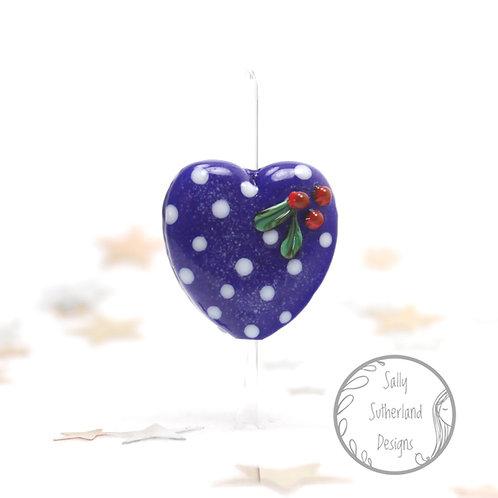 Winter Heart Bead