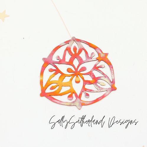 Copper Flower Ornament