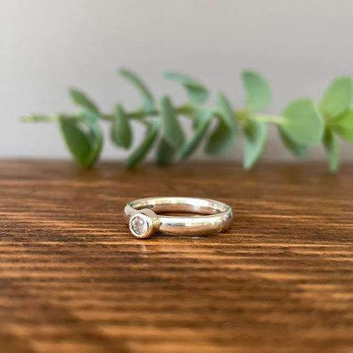 Rose Quartz Ring L (5.5)