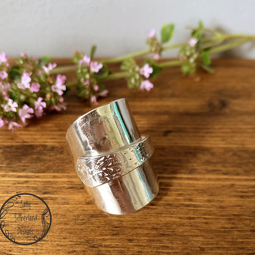 Vintage Silver Spoon Ring Q/8